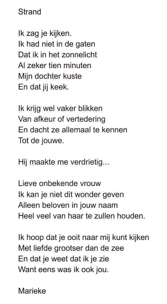 Bekend Gedichten van Marieke - #VJ69